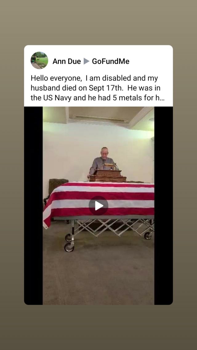 My Husband our War Hero passing